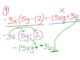 showme distributive property with combining like terms with