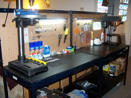 workbench with pegboard and light orlando area garage equipment open classifieds forum