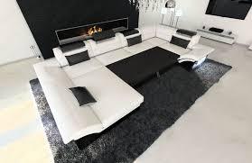 sofa schwarz fabric design sofa atlanta with led
