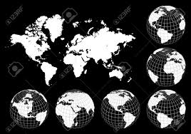 World Map Vector Earth Globes And World Map Vector Royalty Free Cliparts Vectors