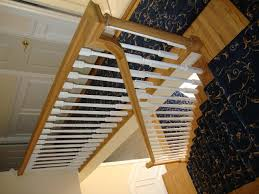 Wooden Banister Rails Interior Stunning Stairs With Half Turn Staircase Decorating