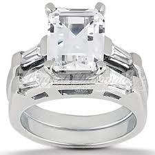 emerald cut wedding set 0 75 2 5 carat emerald cut diamond engagement ring set in 14k 18k