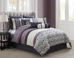 Lilac Bedding Sets 14 Darla Gray And Lilac Bed In A Bag W 600tc Cotton Sheet