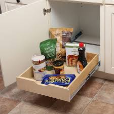 kitchen cabinet storage solutions lowes knape vogt 17 78 in w x 5 in h 1 tier pull out wood soft baskets organizers