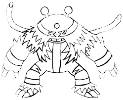 pokemon coloring pages electivire arterey info