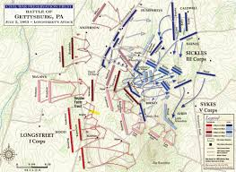 Map Of United States During Civil War by Battle Of Gettysburg Longstreet U0027s Attack Civil War Trust