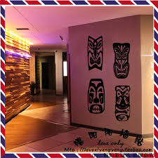 compare prices on wall decals abstract online shopping buy low personalized african mask vinyl wall decal abstract african style doodle ktv pub bar door decoration living