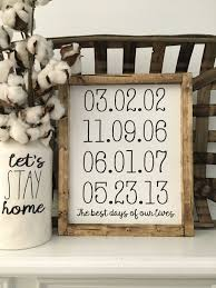 best days of our lives personalized dates family wood clever