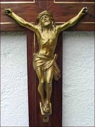 large crucifix large crucifix gilt spelter bronze inlayed cross deco 1940