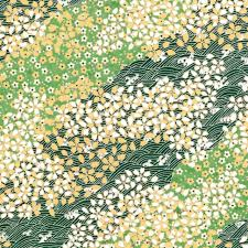 yellow wrapping paper edna silkscreen wrapping paper in green