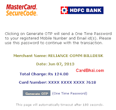 Hdfc Credit Card Payment Bill Desk Hdfc Credit Cards Roll Out