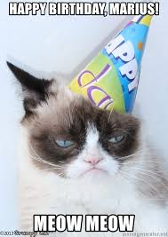 Grumpy Cat Meme Happy - grumpy cat happy birthday meme generator mne vse pohuj