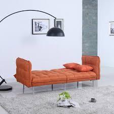 Linen Sleeper Sofa Home Usa Modern Plush Tufted Linen Splitback Living Room