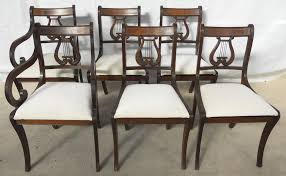 Antique Regency Dining Chairs Sold Set Of Six Antique Regency Style Mahogany Harp Back Dining