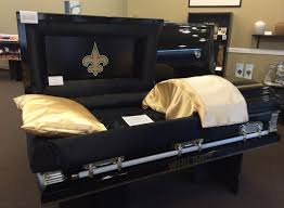 casket for sale photo new orleans saints casket actually exists cbssports