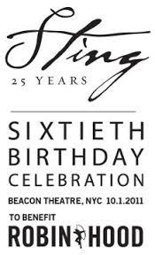 celebrate 60 birthday sting news sting to perform a special concert in nyc to