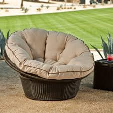 Really Comfortable Chairs Patio Exciting Comfy Patio Chairs Blackish Brown And Cream Round