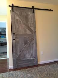 Interior Door Hanging Kitchen White Stained Wood Sliding Barn Door Hanging On Black