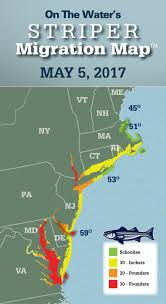Delaware Zip Code Map by Striper Migration Map May 5 2017 On The Water