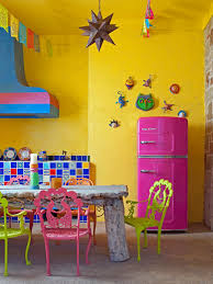 kitchen style retro kitchens decorating ideas blue refrigerator