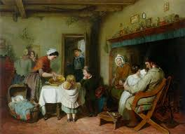the english cottage christmas morning in an english cottage by william macduff on artnet