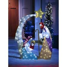 Christmas Yard Decorations Nativity Set by Led Lighted Nativity Set Scene Christmas Outdoor Yard Lawn