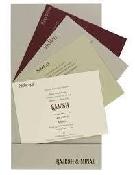 modern hindu wedding invitations modern hindu wedding invitation in brown with laser cut ganesha