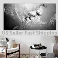 black and white art ebay black white love kiss abstract art on canvas painting wall art picture print