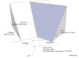 Hip Roof Design Calculator Roof Framing Geometry Irregular Hip Roof Valley Rafter Framing