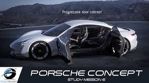 porsche concept porsche concept study mission e exterior design youtube