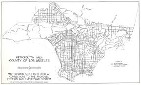 Los Angeles Area Map by Metropolitan Area County Of Los Angeles Map Showing Streets