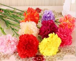 wholesale carnations 2018 wholesale high simulation artificial carnations bouquet silk