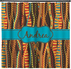 Brown And Teal Shower Curtain by Tribal Ribbons Shower Curtain Personalized Potty Training Concepts