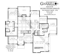 chateau floor plans chateau le mont 3796 house plans by garrell associates inc