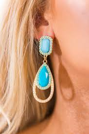 pretty earrings poolside pretty earrings in electric blue impressions online