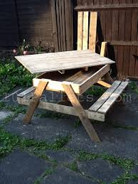 Diy Wood Picnic Tables by 15 Unique Pallet Picnic Table 101 Pallets Like The Idea Of The