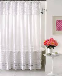 Creative Bath Accessories Sheer Ruffles Shower Curtain  Shower