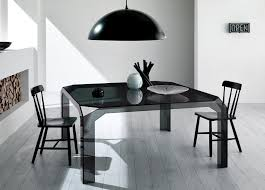 Square Glass Dining Table Square Glass Dining Table Black All Furniture Special
