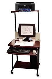 Small Computer Printer Table Amazon Com Compact Computer Desk W Printer Shelf 27