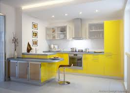 Kitchen Kitchen Cabinets Modern Yellow Peninsula Seating Glass