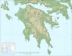 Greece Maps by Peloponnese Relief Map Blank U2022 Mapsof Net