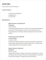 Senior Resume Template Exle Of Resume Basic Resume Template For Senior Hr