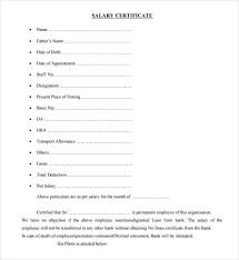 appointment certificate template sle salary certificate template 21 documents in pdf word