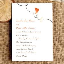 wedding invitations hallmark simple and heart wedding invitation iwi058 wedding