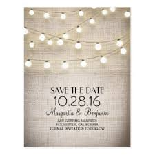 rustic save the dates burlap save the date postcards zazzle