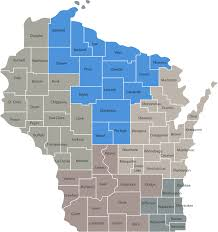Map Of Northern Wisconsin by By County Northern Regional Center