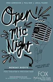 Performing Arts Center Design Guidelines Poster Design Cali Creative Open Mic Night Poster Fox