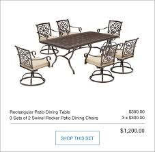 Swivel Rocker Patio Dining Sets Shop The Ebervale Patio Collection On Lowes