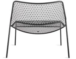 Chair Good Blu Dot Modern Blue Metal Dinin by Mesh Lounge Chair Hivemodern Com