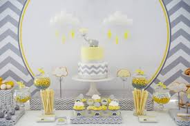 Baby Shower Decorations Yellow Yellow And Grey Elephant Baby Shower Decorations